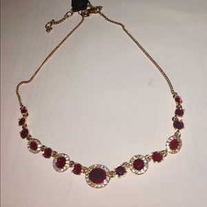 Givenchy red and white crystal necklace